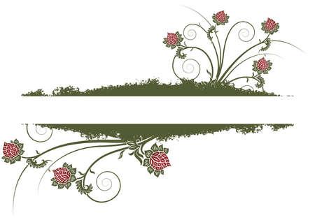 Grunge floral frame background vector illustration Stock Illustration - 1438033