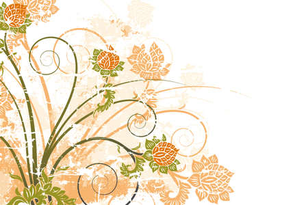 Grunge floral background vector illustration Stock Illustration - 1438043