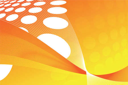 Abstract orange background with waves and circles photo