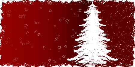Abstract winter background with christmas tree Stock Photo