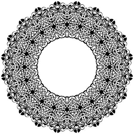 ethno: Ancient decorative ornament pattern illustration isolated on white