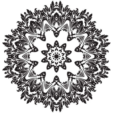 Ancient decorative ornament pattern illustration isolated on white illustration