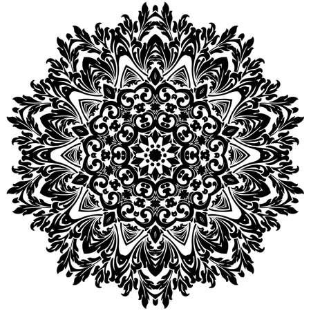 Ancient decorative ornament pattern illustration isolated on white illustration