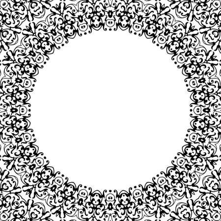 ethno: Ornamental design, digital artwork, pattern Stock Photo