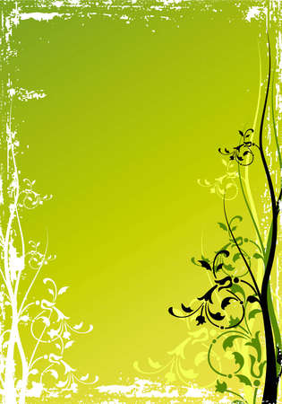 Abstract background with floral elements, digital artwork Stock Photo - 2429184