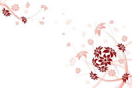 Floral frame. Vector illustration. Résumé des fleurs.