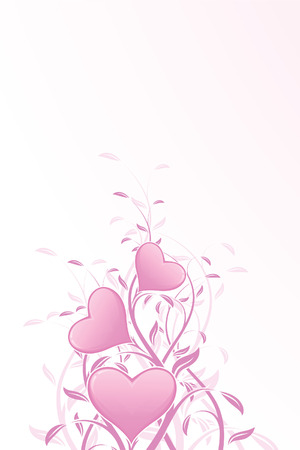 Floral Valentine's Day heart for Your desing Stock Vector - 6175814