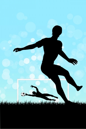 Soccer Background with two Players.