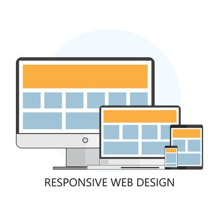 レスポンシブ Web デザイン アイコン  イラスト・ベクター素材