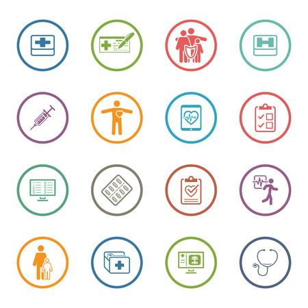 Medical & Health Care Icons Set. Flat Design. Geïsoleerd. Stockfoto - 44047870