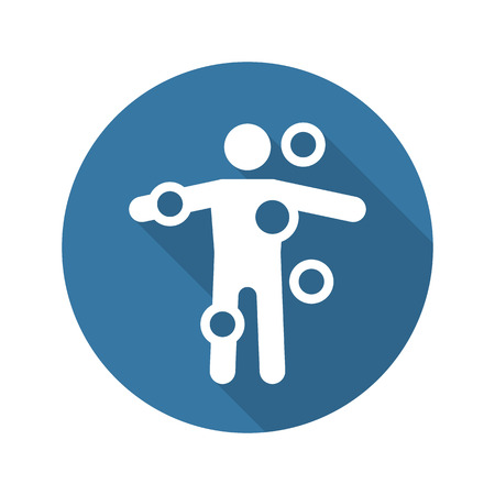 Symptom Checker and Medical Services Icon. Flat Design. Isolated. Long Shadow.