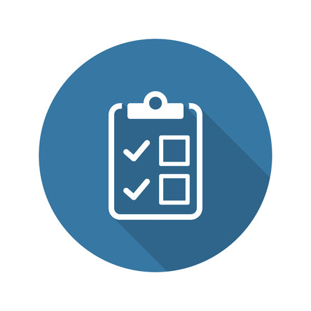 Appointment Request and Medical Services Icon. Flat Design. Isolated. Long Shadow.