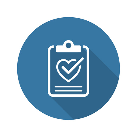 Health Tests and Medical Services Icon. Flat Design. Isolated. Long Shadow. Illustration