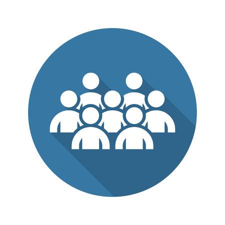 Business Conference Icon. Online leren. Plat ontwerp. Geïsoleerde illustratie. Long Shadow. Stockfoto - 45248117