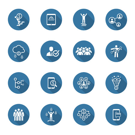 Flat Design Icons Set. Icons for business. Stock Illustratie