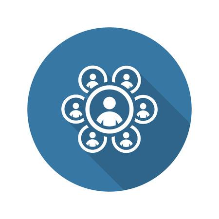 Teamworkt Icon. Business Concept. Flat Design. Isolated Illustration. Long Shadow. Illustration