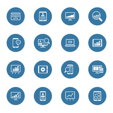 D'affaires et des finances Icons Set. Design plat. Illustration isolé. Vecteurs