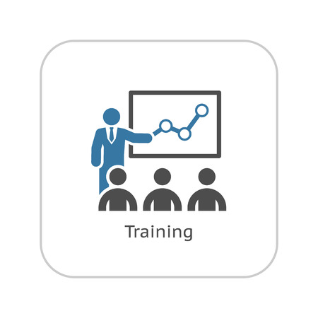 Training Icon. Business Concept. Plat ontwerp. Geïsoleerde illustratie. Stockfoto - 45248705