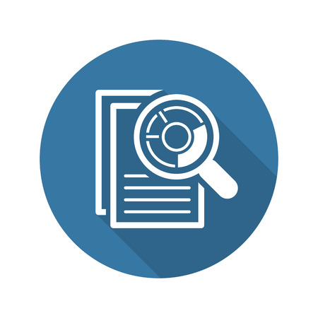 Audit Icon. Business Concept. Flat Design. Isolated Illustration. Long Shadow.