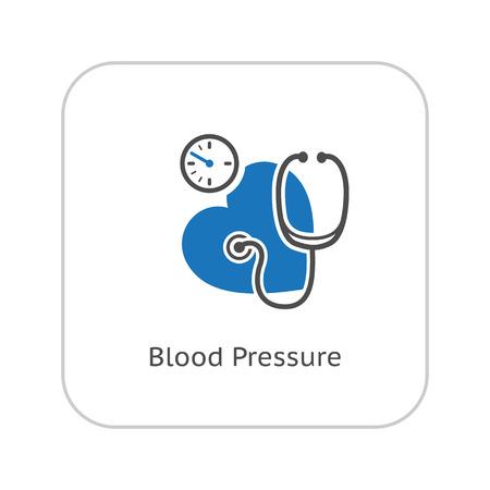 Blood Pressure Icon. Flat Design. Isolated Illustration.