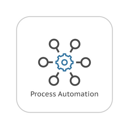 Process Automation Icon. Business Concept. Flat Design.Isolated Illustration.