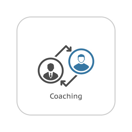 Coaching  Icon. Business Concept. Flat Design. Isolated Illustration.