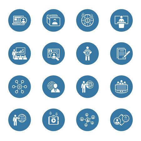 Business and Finances Icons Set. Flat Design. Geïsoleerde Illustratie. Stockfoto - 46545363