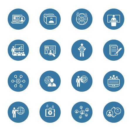 Business and Finances Icons Set. Flat Design. Isolated Illustration.