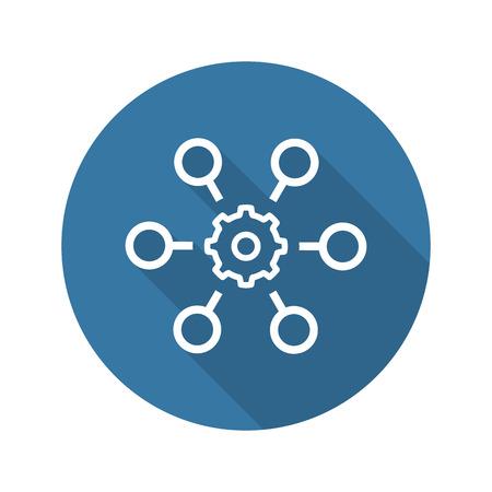 プロセス オートメーション アイコン。ビジネス コンセプトです。フラット Design.Isolated の図。