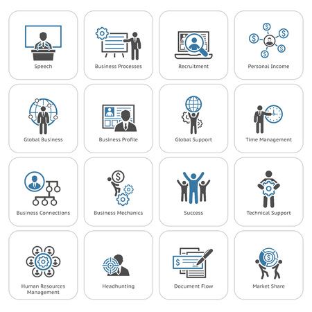 Flat Design Icons Set. Business and Finance. Stock Illustratie