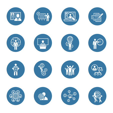 Flat Design Icons Set. Business and Finance. Illustration
