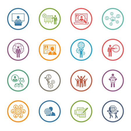 Flat Design Icons Set. Business and Finance. Vectores