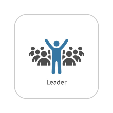 Leader Icon. Business Concept. Flat Design. Isolated Illustration.