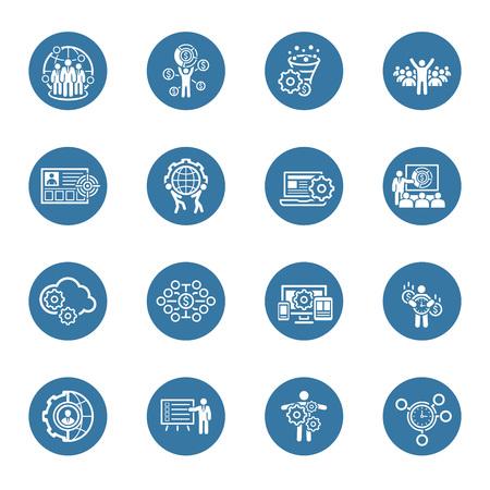 Flat Design Icons Set. Handel en financiën. Geïsoleerde illustratie. Stockfoto - 46972755