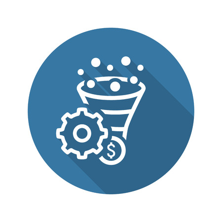 Conversion Rate Optimisation Icon. Business Concept. Flat Design.  Isolated Illustration. Vettoriali