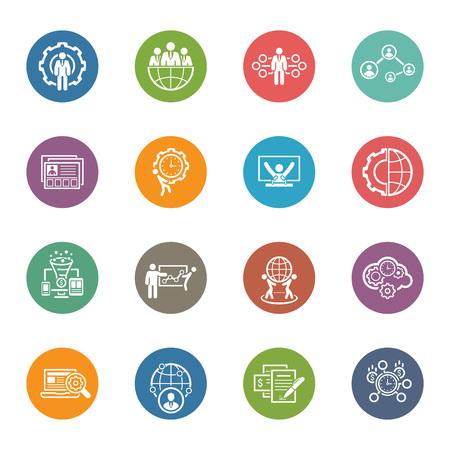 Design plat Icons Set. Affaires et des finances. Illustration isolé. Banque d'images - 47892554