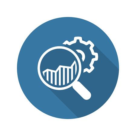 Market Research Icon. Plat ontwerp. Geïsoleerde illustratie.