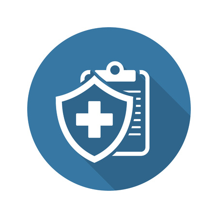 Medical Insurance Icon with Shadow. Flat Design. Isolated Illustration.