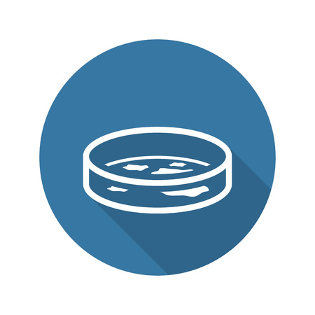 Bacteriology Icon with Shadow. Flat Design. Isolated Illustration. Vectores