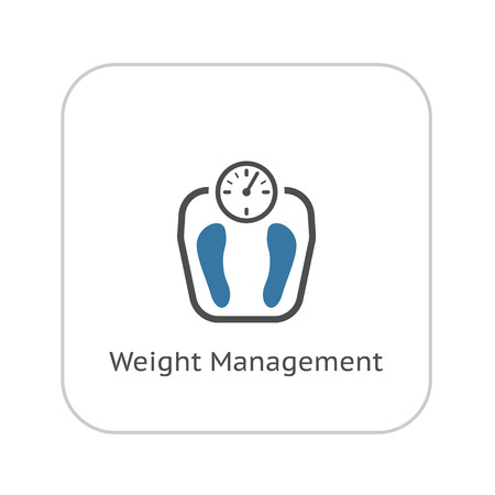 Weight Management Icon. Flat Design. Isolated Illustration. Vectores