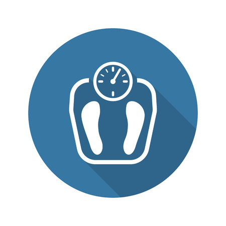 Weight Management Icon with Shadow. Flat Design. Isolated Illustration.
