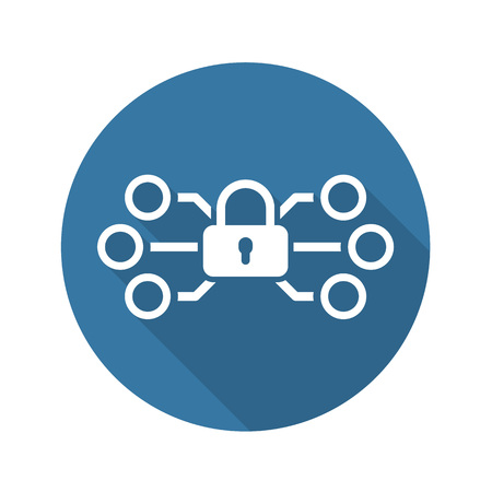Network Protection Icon. Flat Design. Business Concept. Isolated Illustration. Vectores