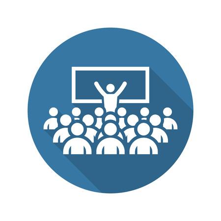 Coaching Icon. Geschäftskonzept. Flaches Design. Isoliert. Vektorgrafik