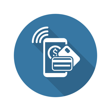 Mobile Payment Icon. Flat Design. Business Concept. Isolated Illustration.