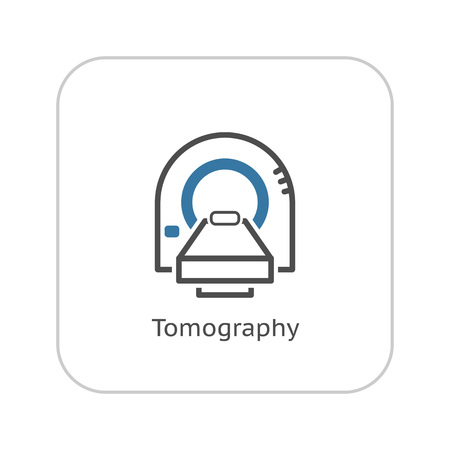 Tomography Icon. Flat Design Isolated Illustration.