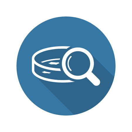 Bacteriological Analysis Icon. Flat Design Isolated Illustration. Test