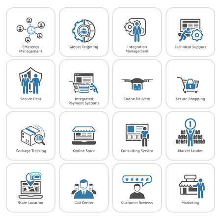 Flat Design Icons Set. Business and Finance. Isolated Illustration. Stock fotó - 49754337