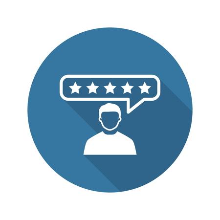 Opinie klientów Ikona. Płaska konstrukcja. Business Concept. Izolowane ilustracji.