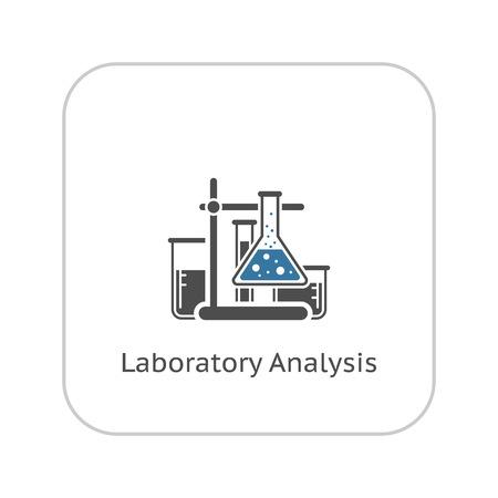 Laboranalysen und Medical Services Icon. Flaches Design. Isoliert.