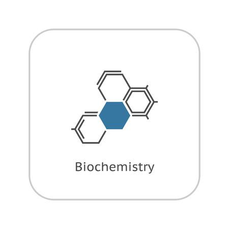 Biochemie Icon. Flaches Design. Isoliert. Molekülstruktur.